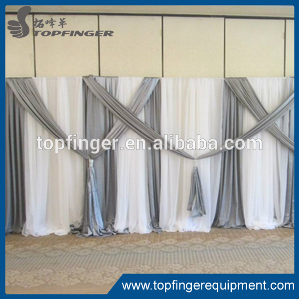 Hot Sale Aluminum Telescopic Double Kits Base Plates Curtain Birthday Party Backdrop Stand Pipe And Drape