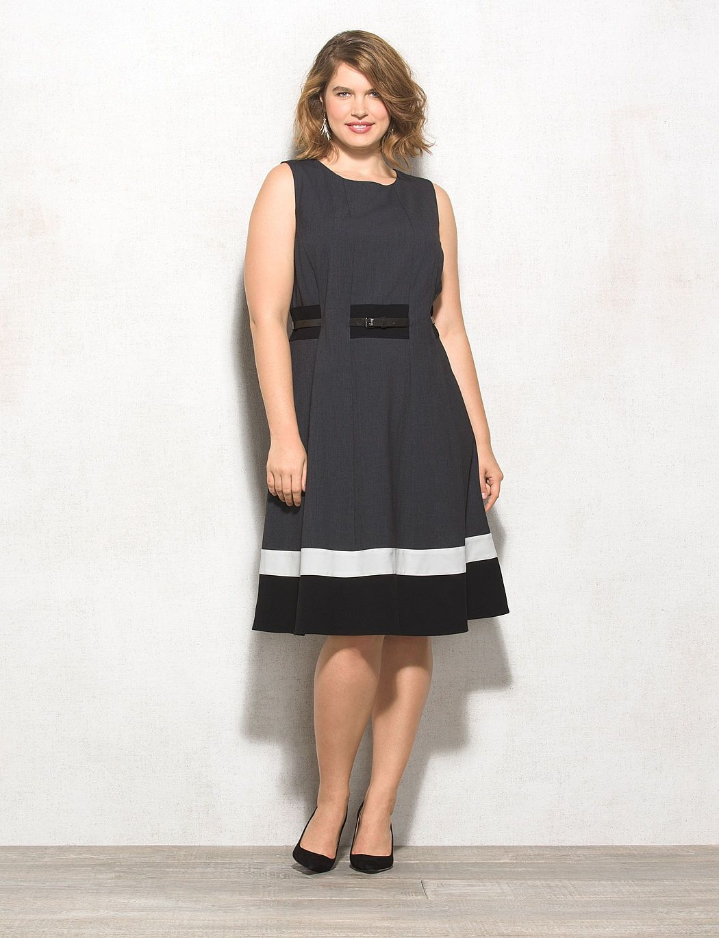 Plus Size Colorblock Fit And Flare Dress Dressbarn My Fashion