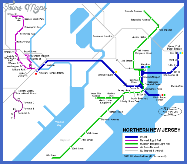 Ny Subway Map To New Jersey.Awesome Jersey City Subway Map Tours Maps Newark City Subway