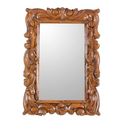 Bloomsbury Market Kanosh Artisan Crafted Carved Wood Traditional Wall Mirror Wayfair Traditional Wall Mirrors Mirror Wall Wood Wall Mirror
