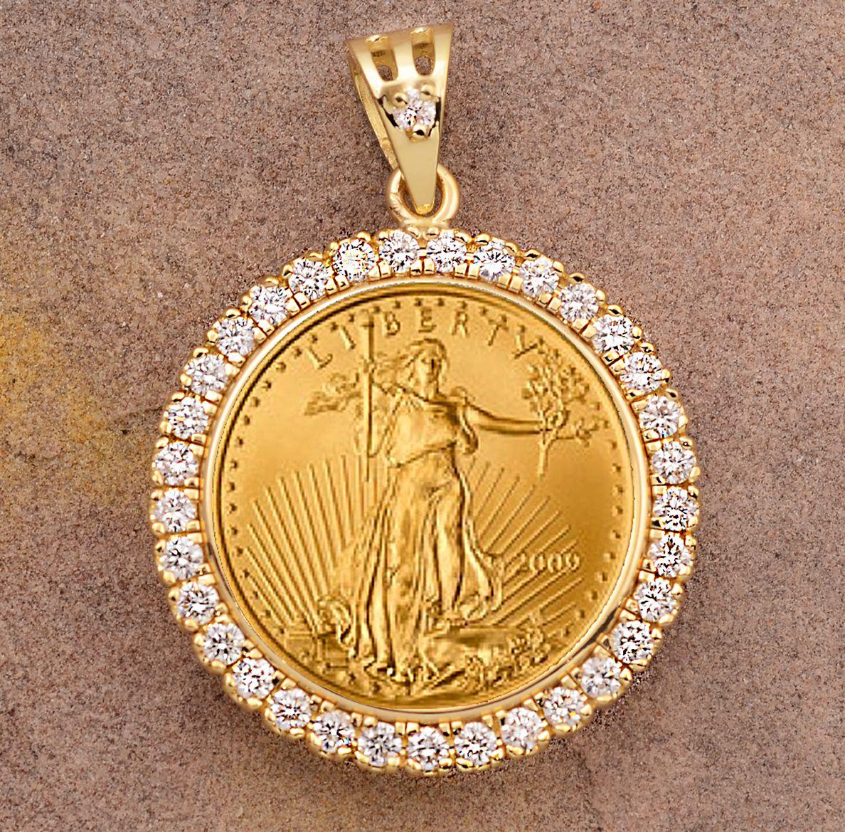 Pin On Coin Jewlery