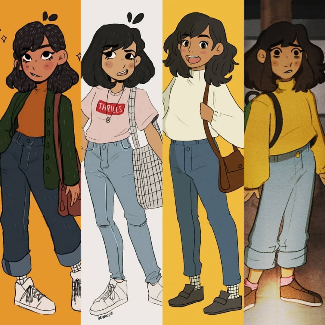 Here S A Compilation Of Recent Drawings Of Me Lol One Thing I Never Draw The Same Is Myself But I Like Drawing Mysel Drawing Clothes Cool Drawings Girl Drawing