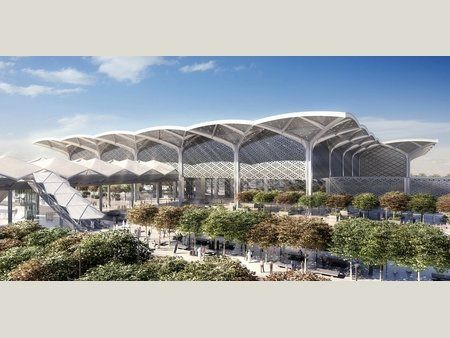 Pin By Brenda Fenn On Airports And Airplanes Architectural Competition Art Museum Architecture Airport Design