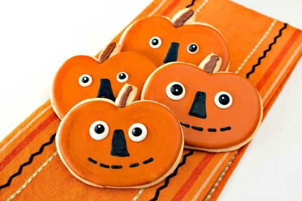 Folk Art Pumpkin Cookies Royal icing, Sugar cookies and Decorated - halloween pumpkin cookies decorating