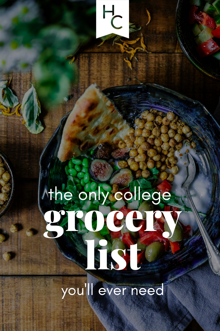 The Only Dorm Grocery List You'll Ever Need Healthy dorm