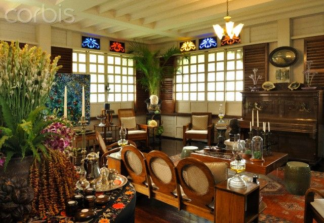 Interior Of A Traditional Filipino Heritage Home Manila