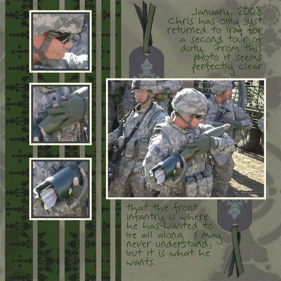 Army Scrapbook Layouts Google Search Scrapbooking Layouts
