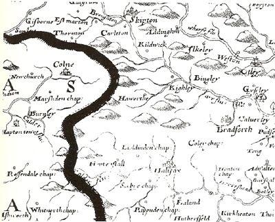 Area Round Skipton On The Saxton Wall Map Map Symbols Pinterest