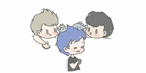 awww cute 5sos cartoon