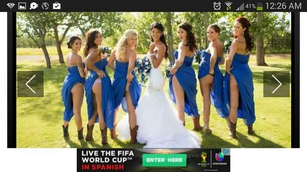Bride and bridesmaid flashing absolutely agree