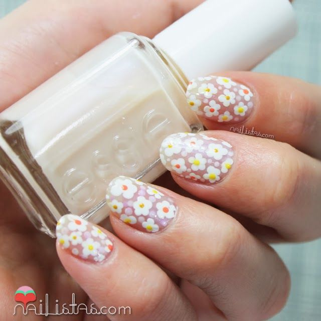 U as decoradas con margaritas nail art de flores nail - Unas decoradas con esmalte ...