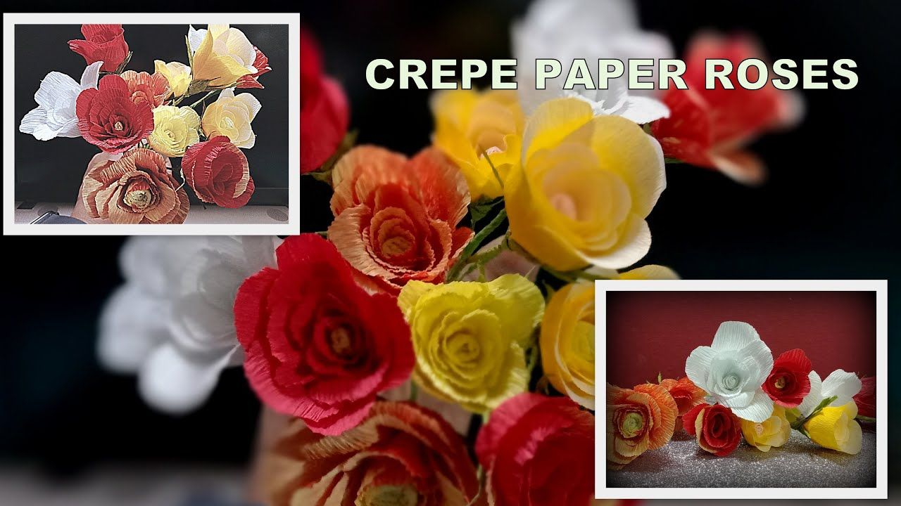 Crepe Paper roses Tutorial/Paper Roses/ACTIVITIES TO DO AT HOME IN COVID-19/Stay Home CRAFT #WithME