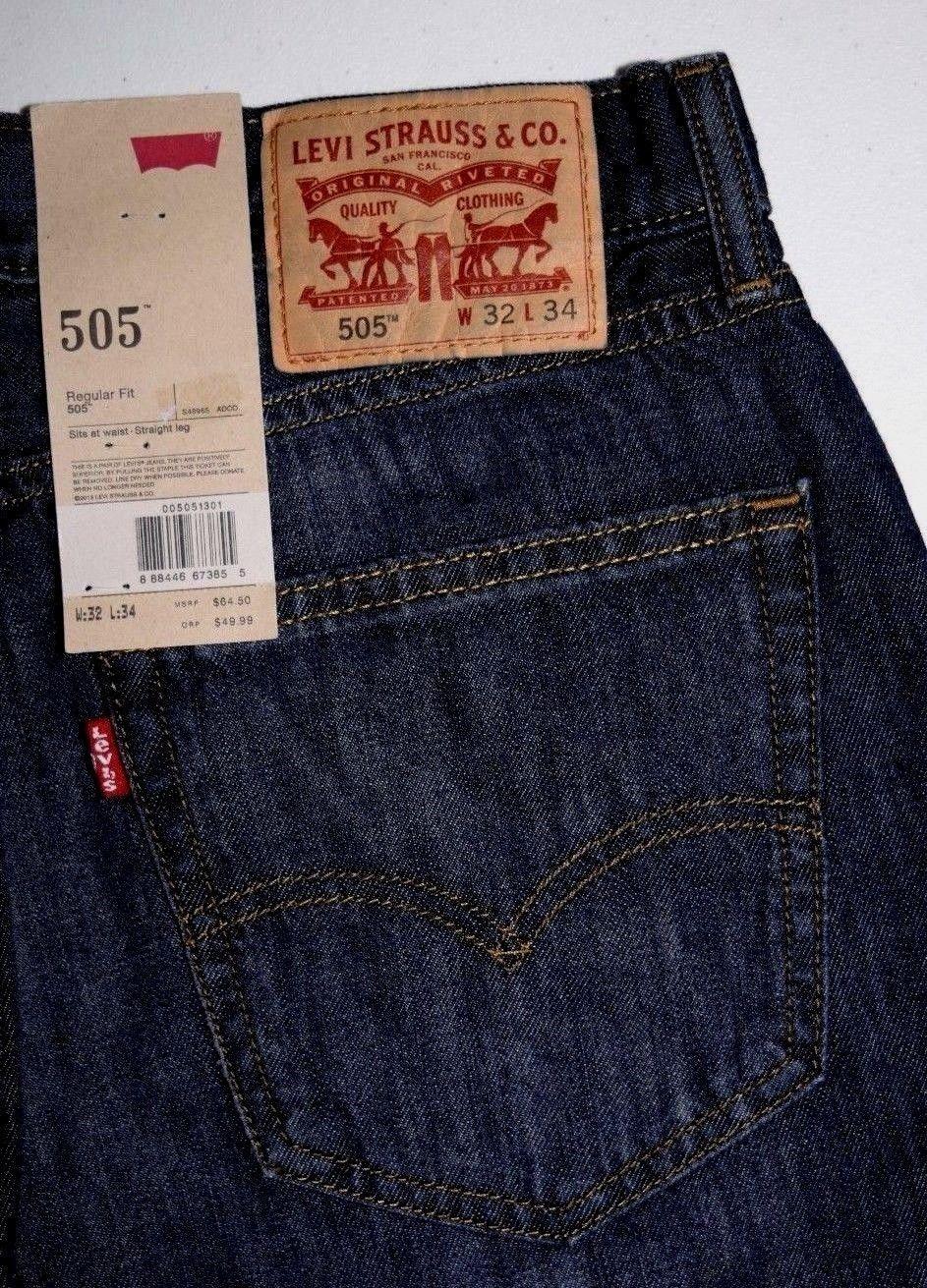 Levi S 505 Regular Fit Mens Jeans Mens Jeans Fit Mens Jeans Men Jeans Relaxed