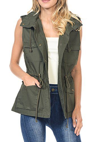 Han Shi Womens Plaid Print Sleeveless Zipper Sweater Vest Casual Comfortable Jacket Coat