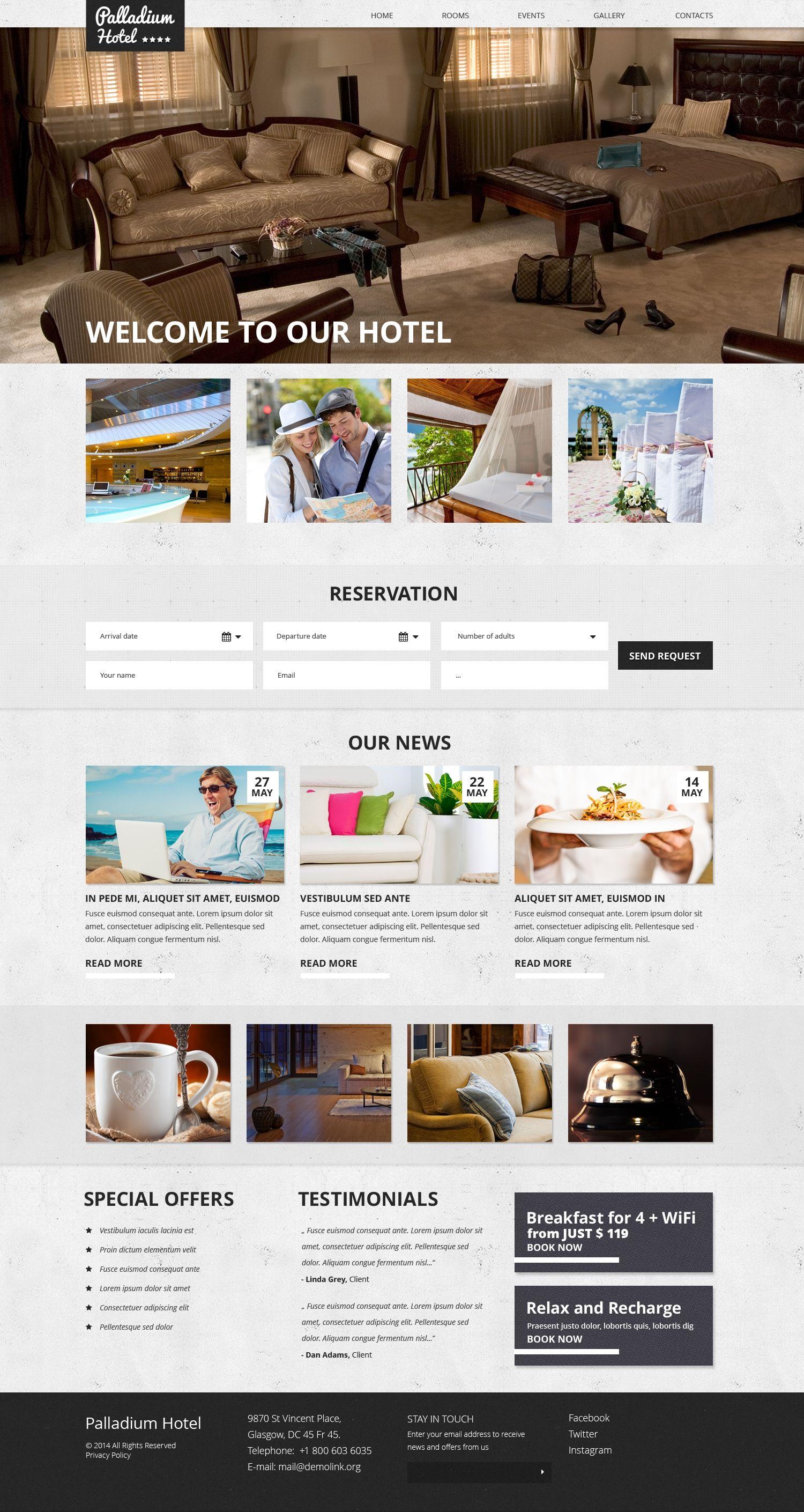 Hotels Responsive Website Template 50639 Website Template