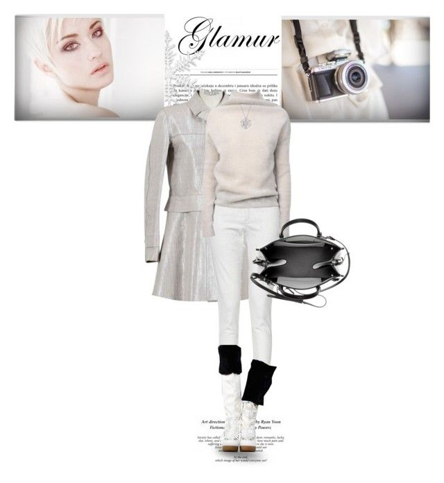 """Silver & White/Winter Style..."" by unamiradaatuarmario ❤ liked on Polyvore featuring moda, Louis Vuitton, French Connection, Rick Owens, Givenchy, Balenciaga y Bling Jewelry"