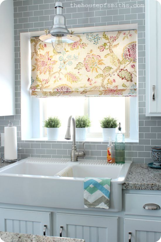 Kicking Your Home Up A Notch The House Of Smiths Kitchen Window Curtains Kitchen Sink Window Farmhouse Sink Kitchen