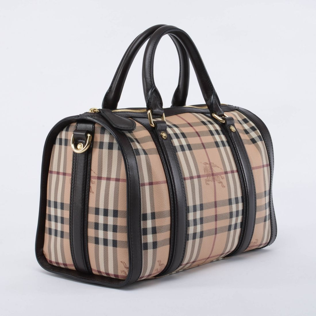 A Burberry Haymarket Check Alchester Bowling Bag. This