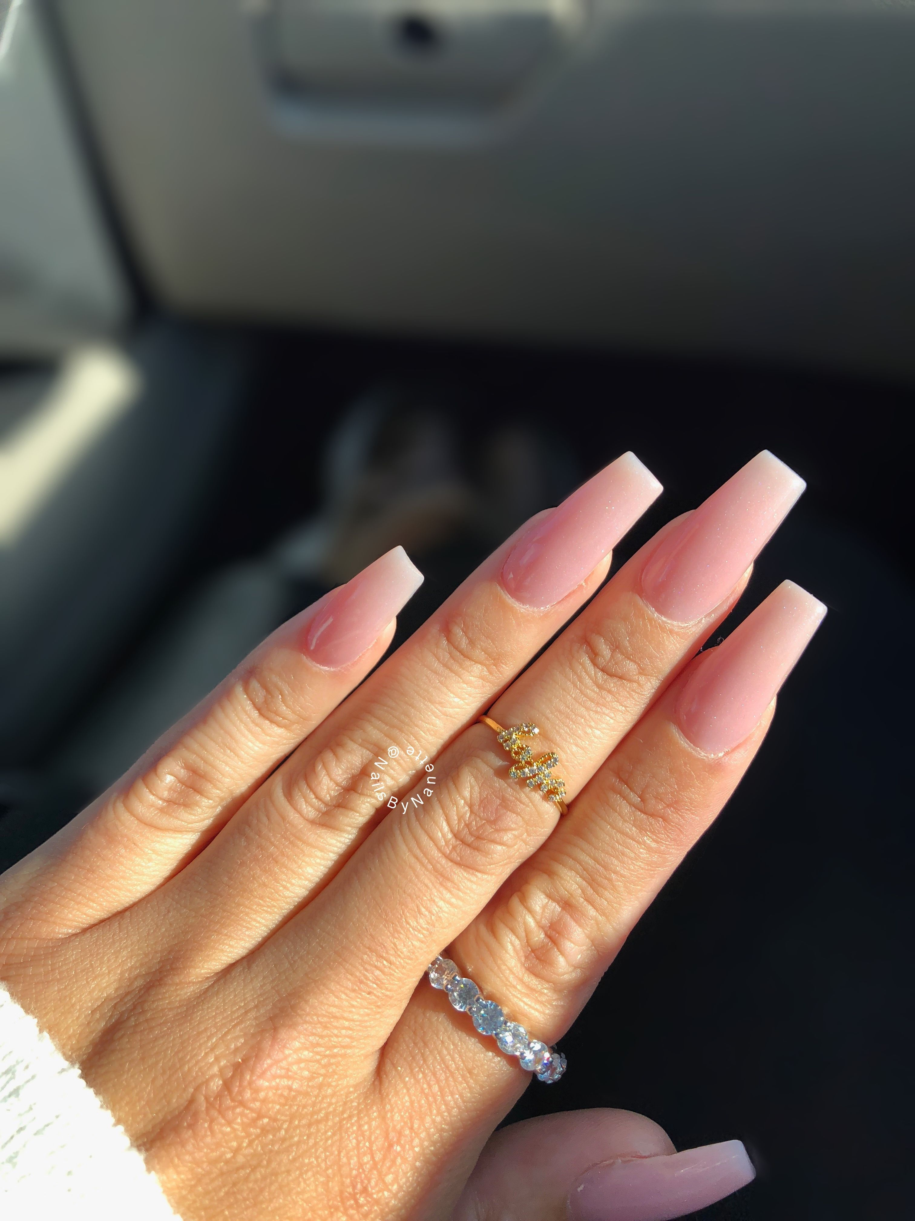 Square Pink Acrylics In 2020 Long Square Acrylic Nails Long Square Nails Baby Pink Nails