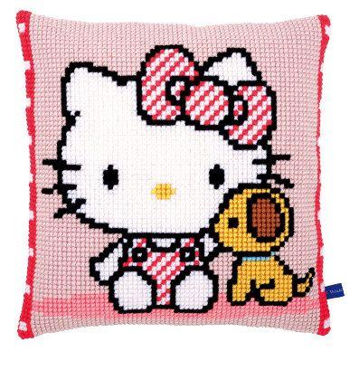 Front Cushion Hello Kitty  Vervaco Novita  Pinterest  Punto