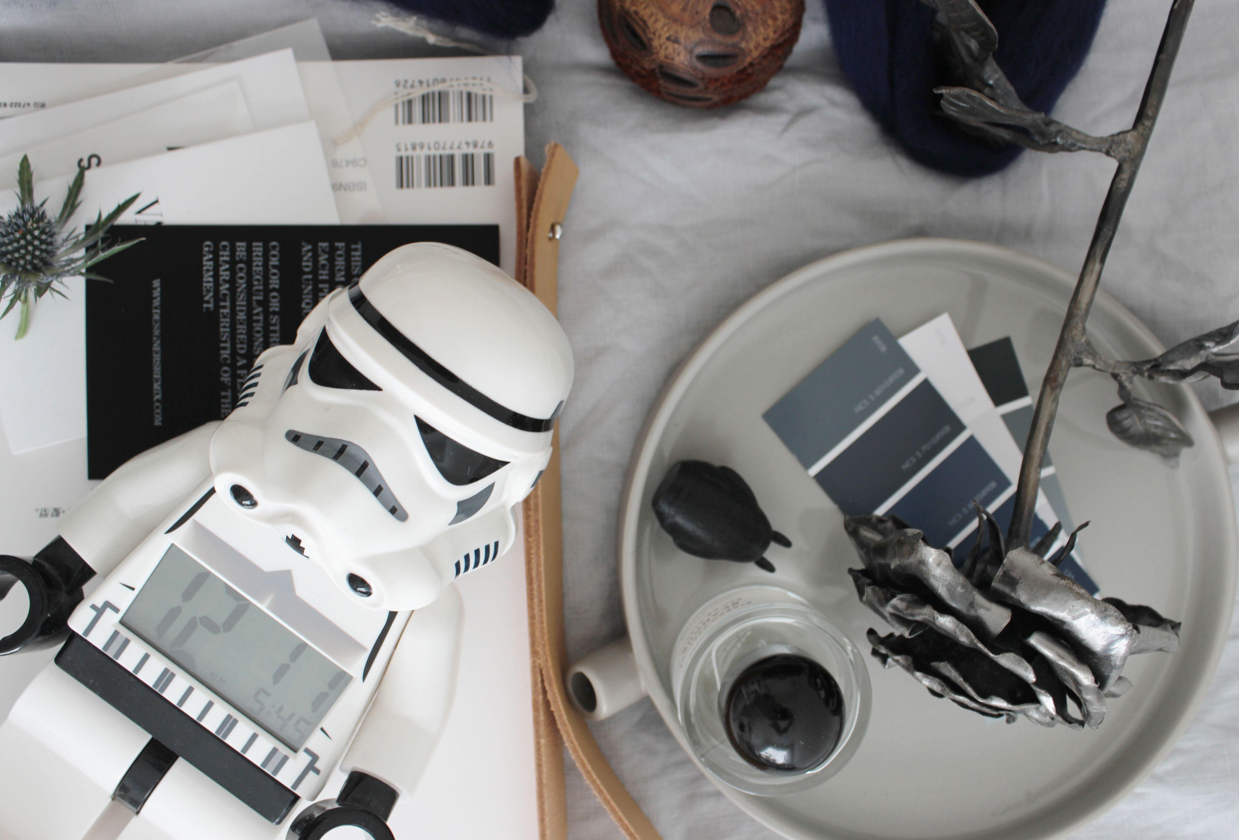 LEGO stormtrooper alarm clock, via http://www.scandinavianlovesong.com/