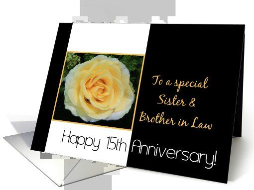 Wedding Anniversary Card For Brother And Sister In Law