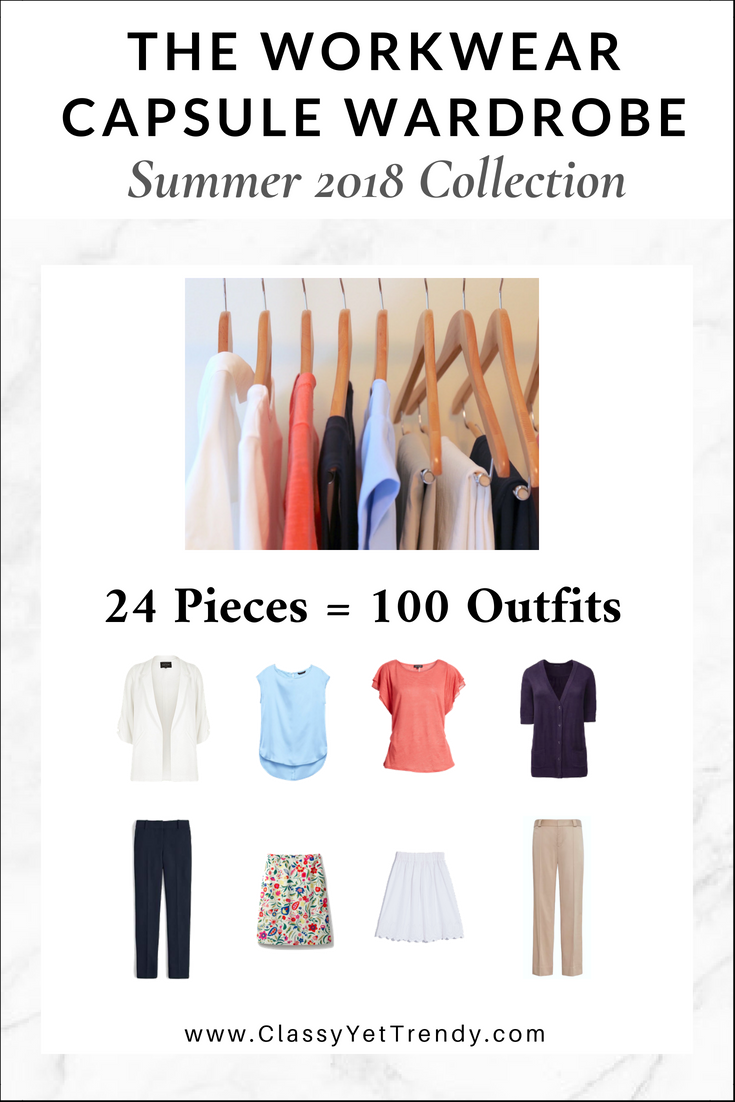 e18f92a24ae Workwear Capsule Wardrobe Summer 2018 - Transform your closet with a  complete wardrobe plan to wear to the office or for a professional  entrepreneur!