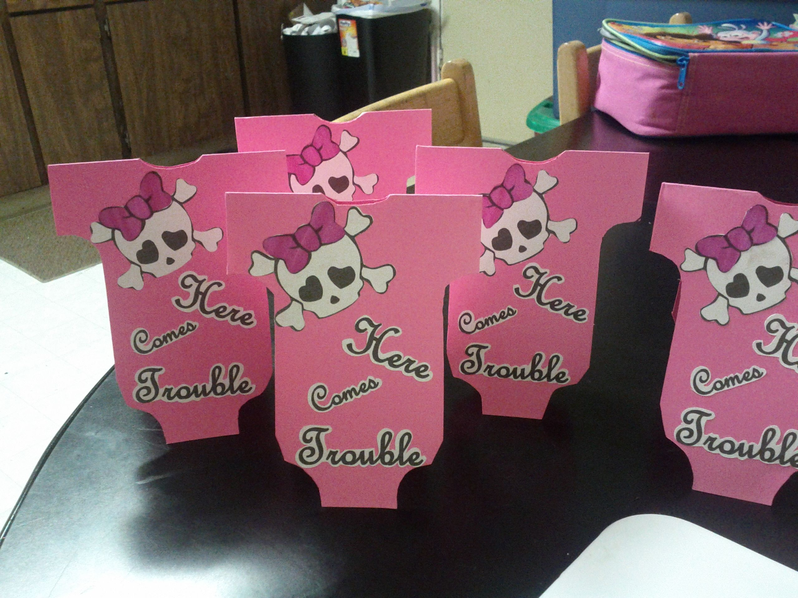 kullicious™ Baby Girl Skull Baby Shower Party Supplies & Ideas