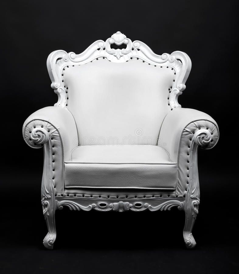 White Chair White Leather Decorative Chair On Black Background Aff Leather Chair White Background Black Ad White Chair Decorative Chair Chair