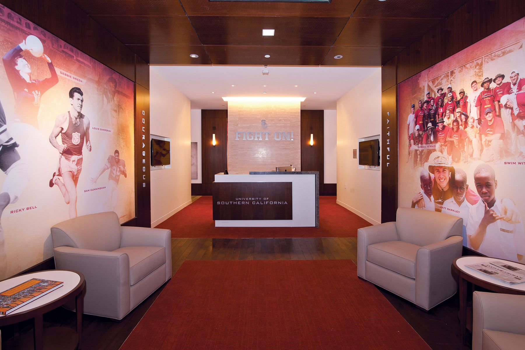 university of southern california heritage hall athletic design