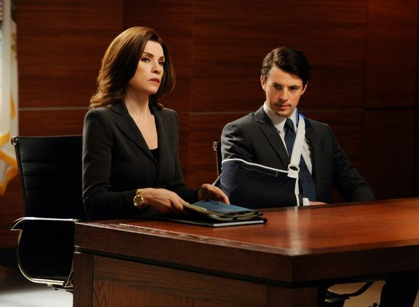 Alicia Florrick Julianna Margulies And Finn Polmar Matthew Goode