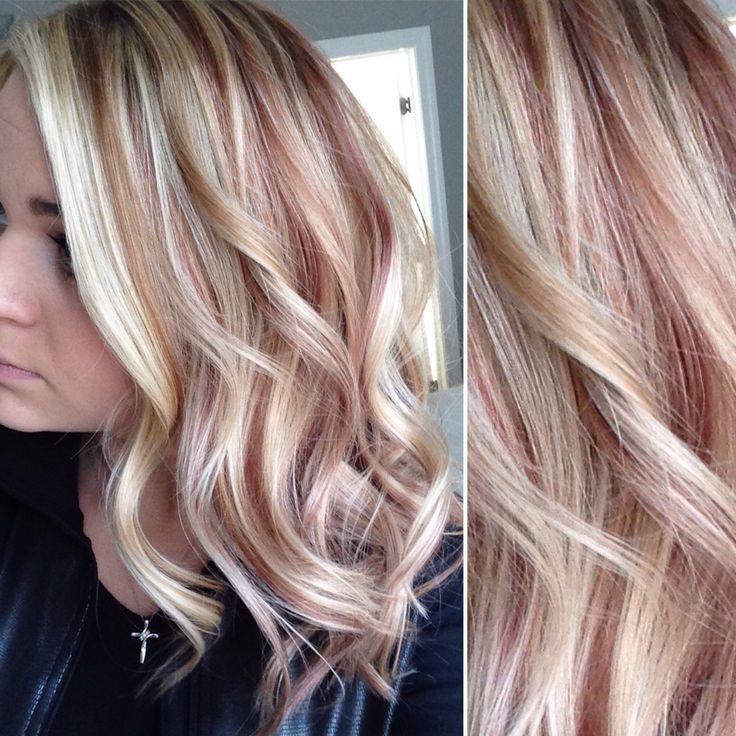 Rose Gold Hair Rose Gold Hair Blonde Blonde Hair With Highlights Hair Color Highlights