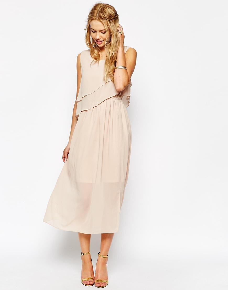 Asos wedding guest dresses with sleeves  Darccy  Darccy Frill Layered Maxi Dress at ASOS  Clothes