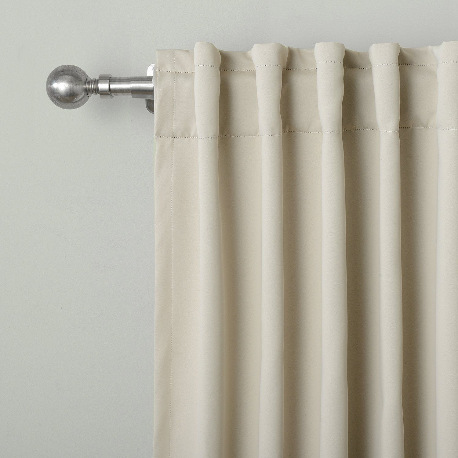 Twopages Solid Back Tab Rod Pocket Blackout Curtains 52 W X 63 L 2
