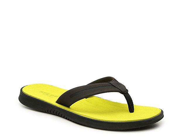 62f9ac713482 Men Defender Two-Toned Flip Flop -Black Yellow