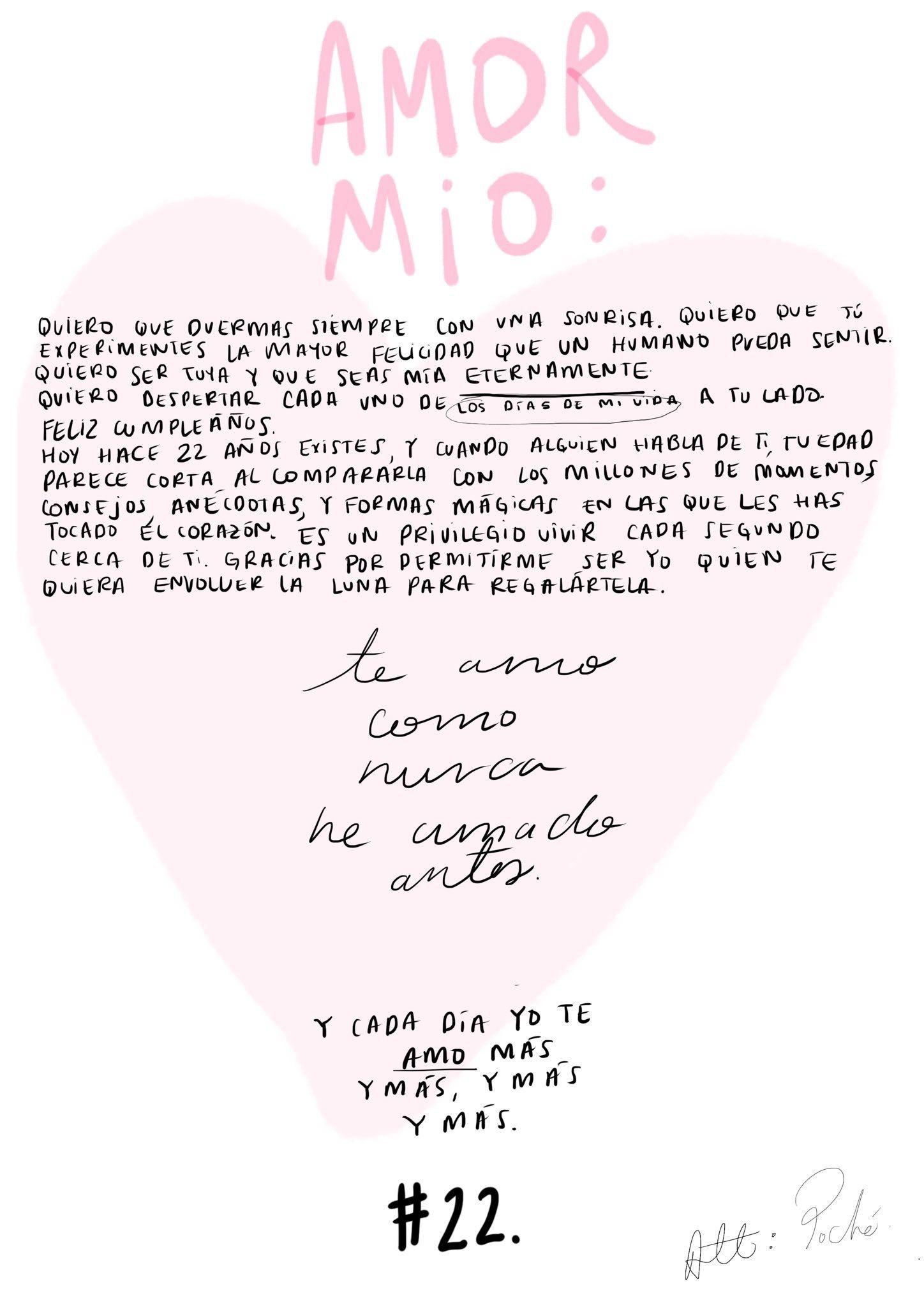 Diciembre 15/2018 Cartita para mi amor: Att: Poché
