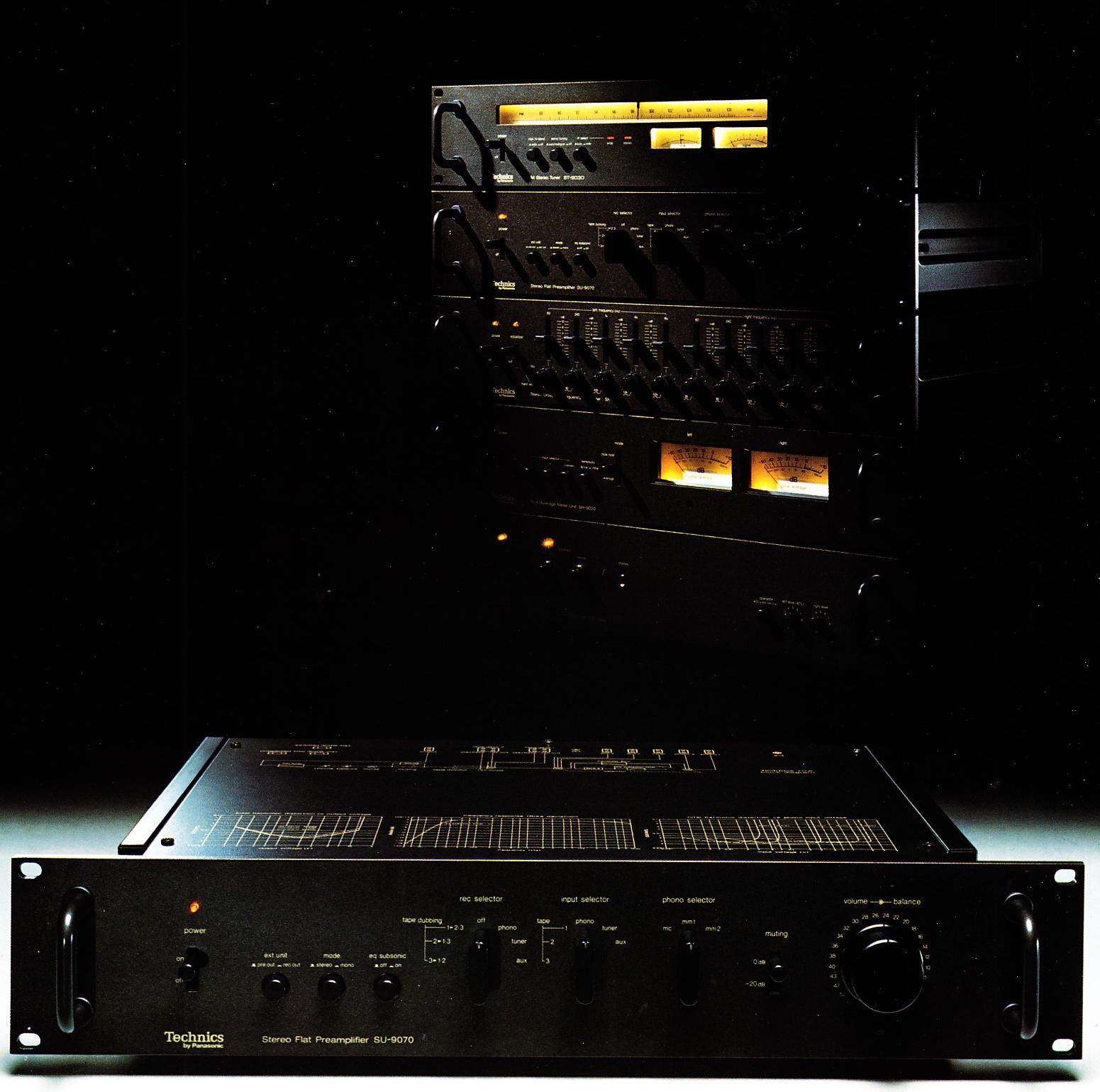 The Technics Professional / Flat 9000 series  In the 1970s Hi Fi was