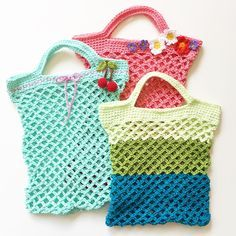 Häkelanleitung für ein Einkaufsnetz #knittingprojects