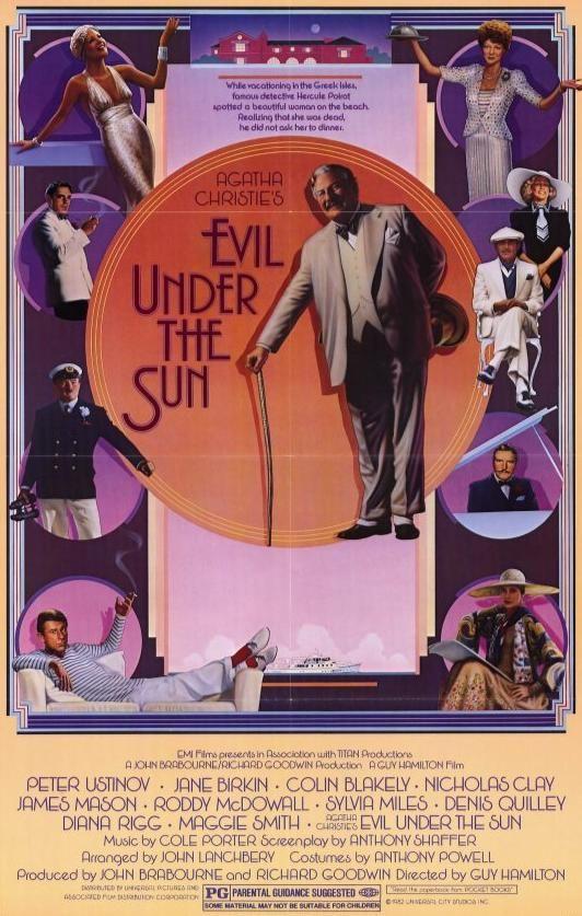 Evil Under The Sun Poster Poirot Peter Ustinov Maggie Smith
