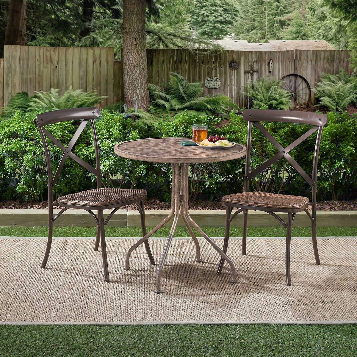 Camrose farmhouse 2piece outdoor dining chairs outdoor