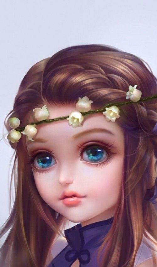 Art Art Girl Baby Background Beautiful Beautiful Girl Beauty Beauty Girl Cartoon Colorful Cute Art Design Drawing F Big Eyes Art Cute Art Art Girl