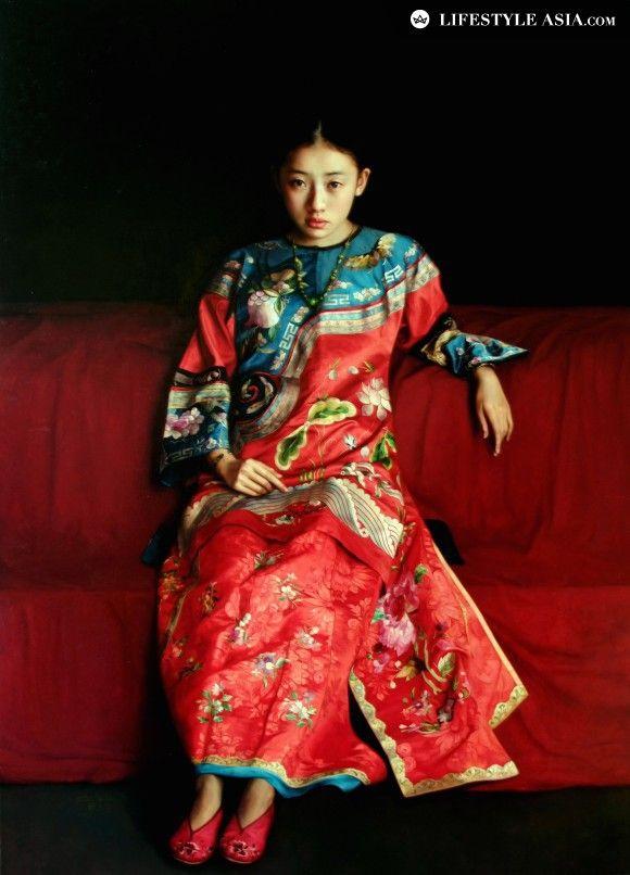 """""""Espléndido atuendo"""". Zhao Kailin (1961- )."""