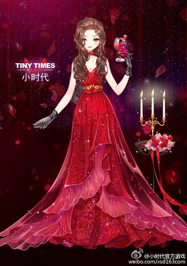 Anime Girl In Red Dress : anime, dress, Nikki