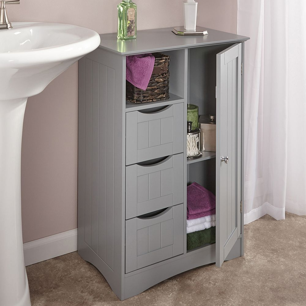 Riverridge Home Ashland Storage Floor Cabinet Grey