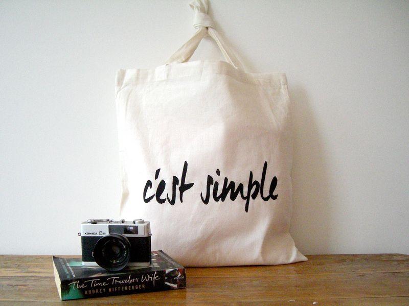 C'est simple Eco Tote van Happy Sweaters op DaWanda.com