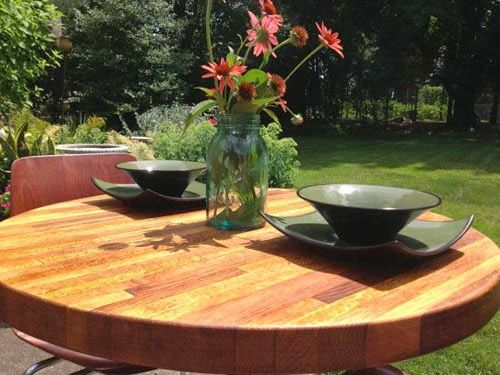 Round Butcher Block Dining Table, Butcher Block Round Table
