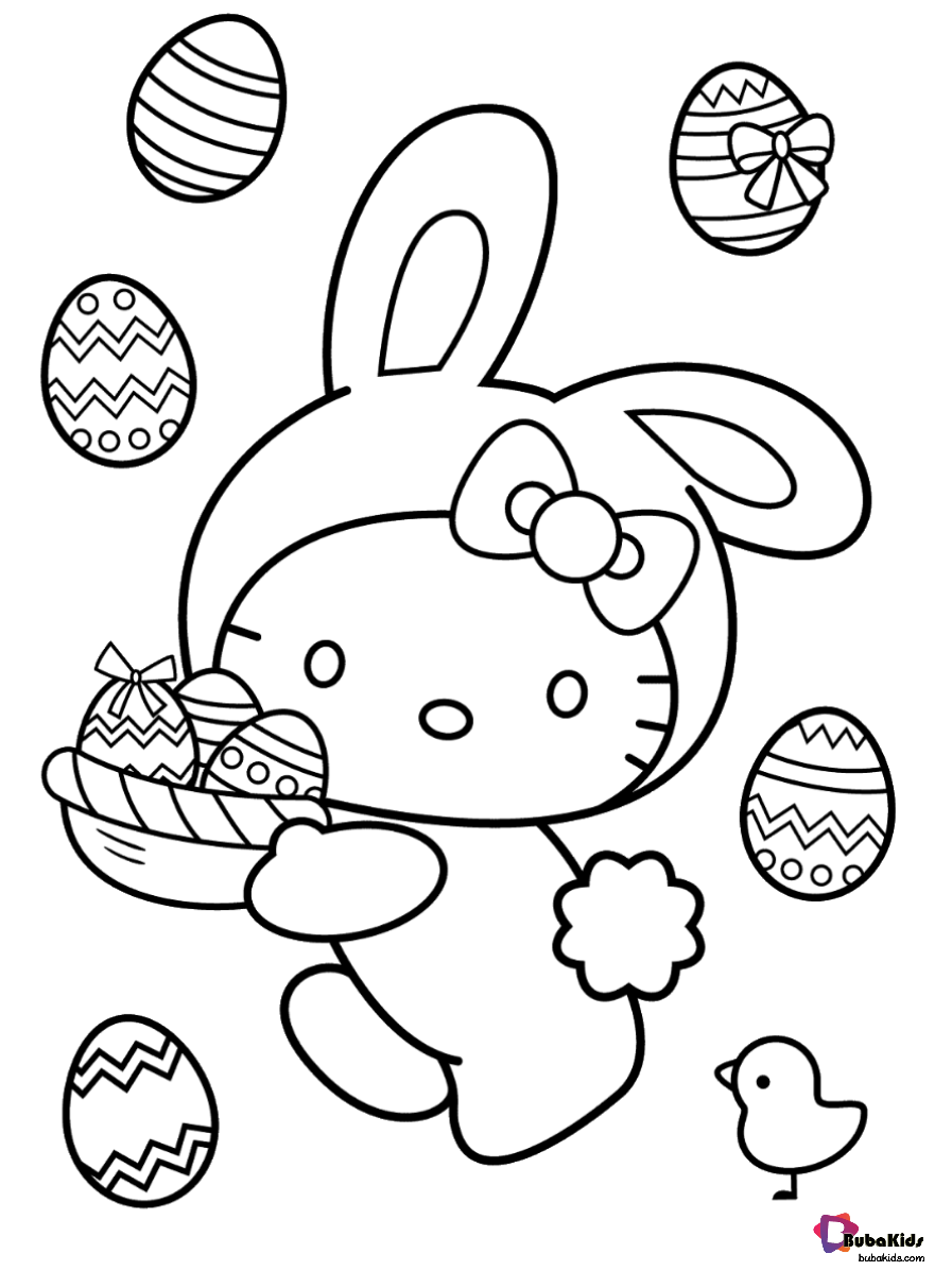 Free Download Hello Kitty With Easter Eggs Happy Easter Coloring Pages For Kids Collecti Bunny Coloring Pages Hello Kitty Colouring Pages Hello Kitty Coloring