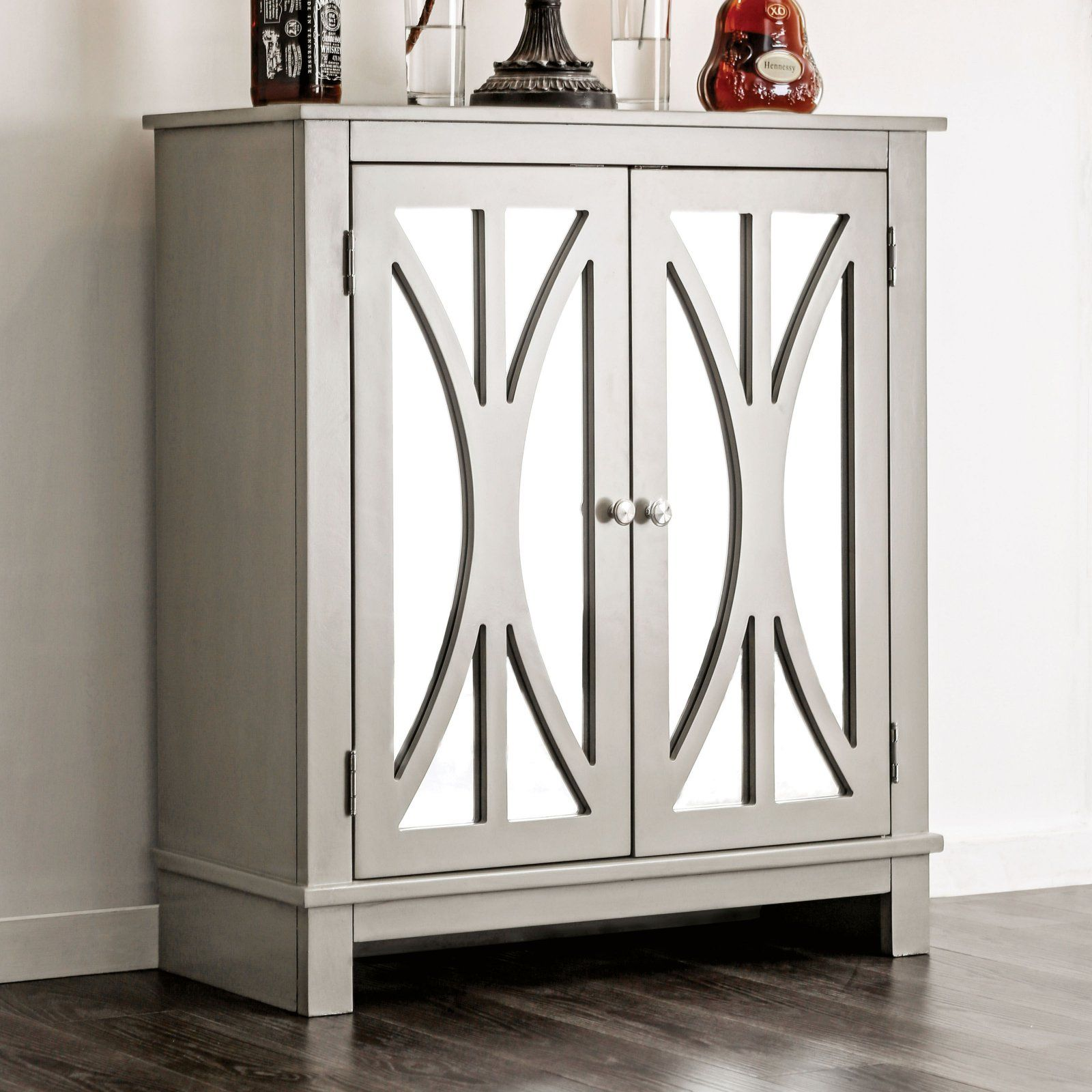 Furniture Of America Christophe Contemporary Style Double Door Hallway Cabinet