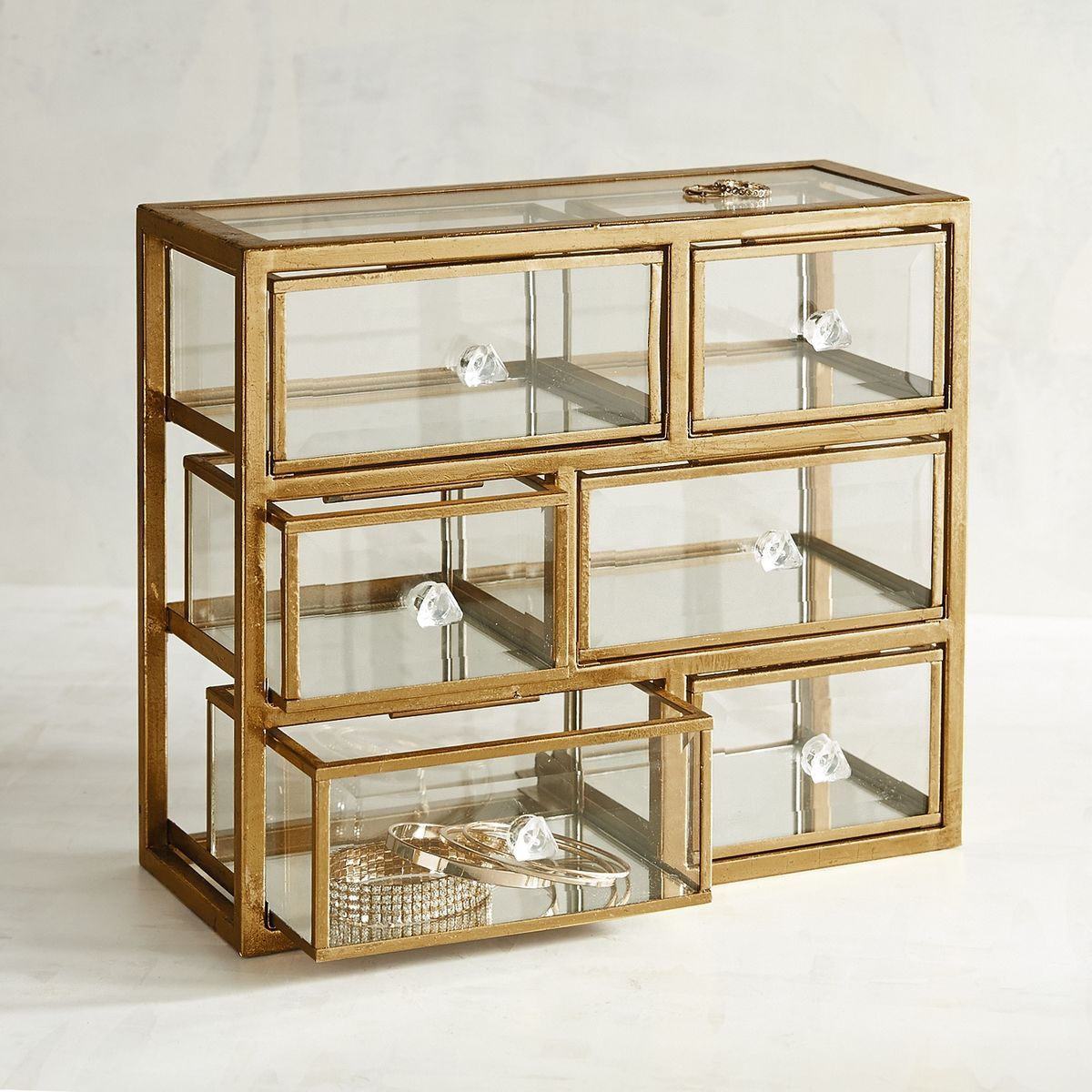 Glass Amp Metal Jewelry Box Pier 1 Imports Storage In