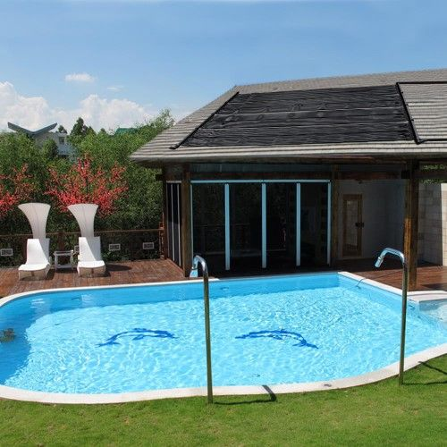4 2x12 Sunquest Solar Swimming Pool Heater Complete System With
